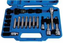 22PCS COMPLETE KIT FOR BOSCH AND DENSO TYPE ALTERNATOR PULLEYS