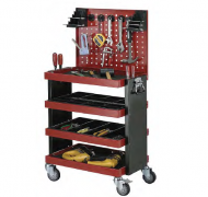 4 SHELVES TOOL TROLLEY