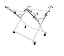 X STAND WITH ADJUSTABLE EXTENSION ROD