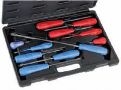 11 PC PHILLIPS & SLOTTED IMPACT SCREWDRIVER SET