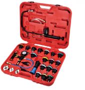 28PCS COOLING SYSTEM LEAKAGE TESTER AND VACUUM-TYPE COOLANT REFILLING KIT