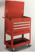 3-DRAWER TOOLS TROLLEY  WITH GAS SPRING COVER